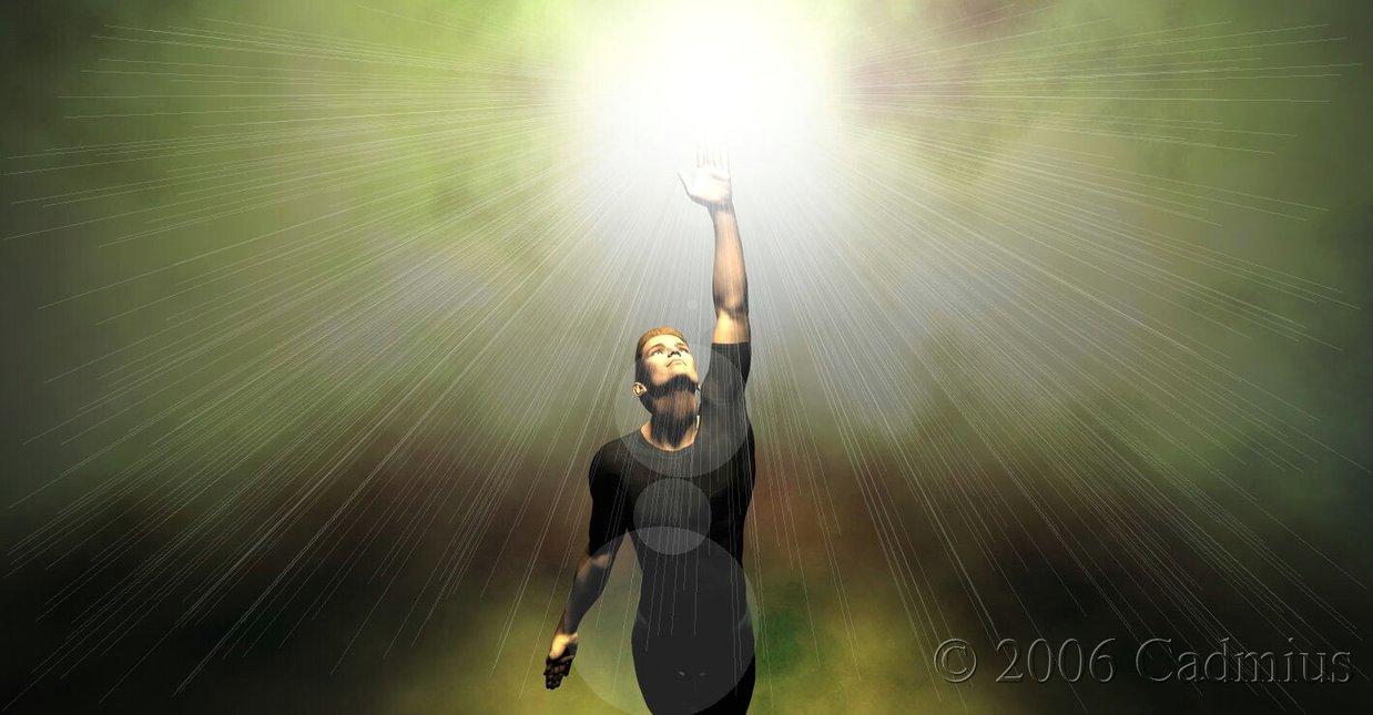 God Reaching man